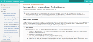 hardware recommendations for design students