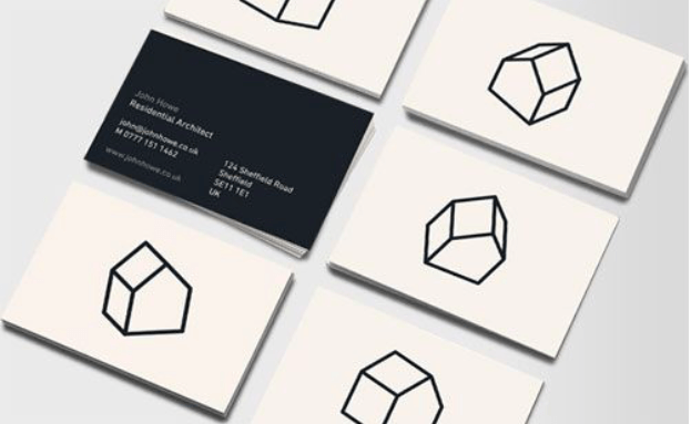 Simple business cards for architects