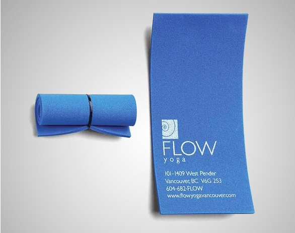 Yoga mat business card