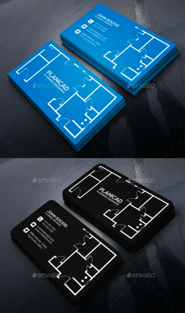 architect visiting card psd