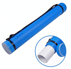 Poster Tube with Strap Plastic Expanding Poster Tube