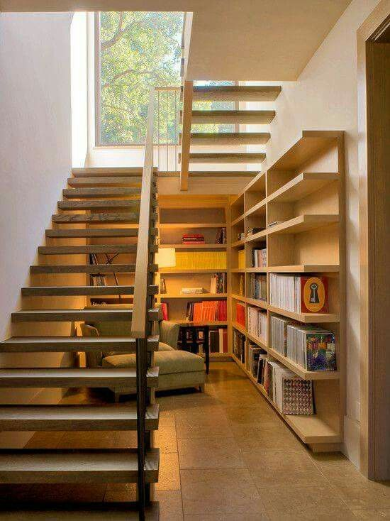 library below stairs
