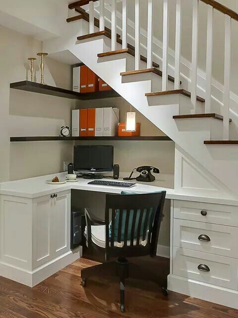 office design under the stairs