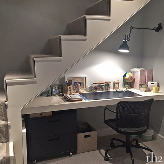 office space under staircase