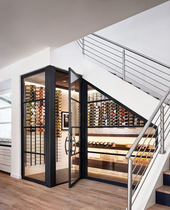 wine storage ideas for stairs