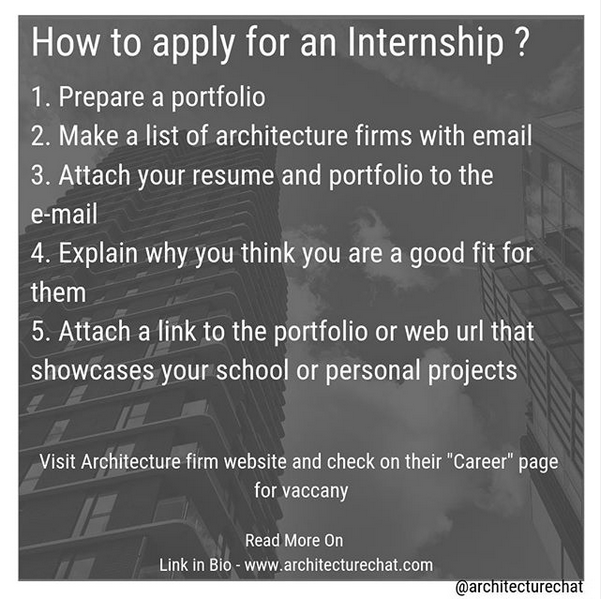 Architecture internship tips