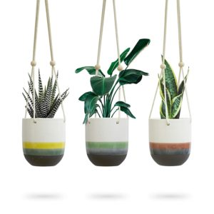 Ceramic Hanging Planter for Indoor Plants