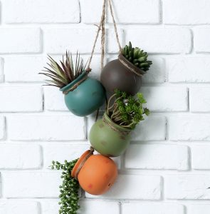 Desert Color Ceramic 4 Pot Set