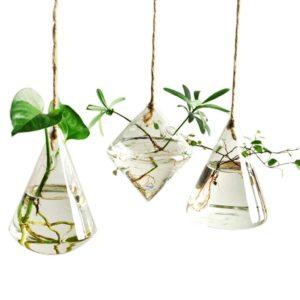 Geometric Vase Glass Vessel Hanging Planters