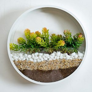 Round Glass Wall Planter