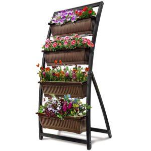 Vertical Garden Freestanding Elevated Planter