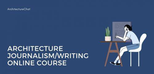 Architecture Journalism course